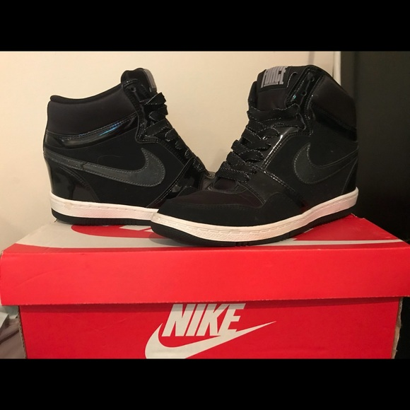 online retailer ceb25 9118f Nike Force Sky High Wedge Sneaker. M 5b535837f41452fec24e4de0